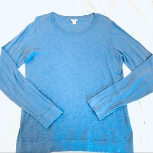 J.Crew Blue Long-Sleeved Crew neck Sweater